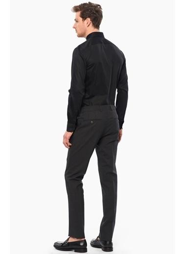 Network Uzun Kollu Slim Fit Klasik Gömlek Siyah